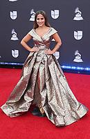 14 November 2019 - Las Vegas, NV - Jackie Guerrido. 2019 Latin Grammy Awards Red Carpet Arrivals at MGM Grand Garden Arena. Photo Credit: MJT/AdMedia