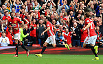 Juan Mata of Manchester United celebrates after scoring his sides second goal during the Premier League match at Old Trafford Stadium, Manchester. Picture date: September 24th, 2016. Pic Sportimage