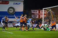 Blackpool's Kelvin Mellor celebrates scoring his sides third goal to make the score 3-3 on the night and win the tie on aggregate<br /> <br /> Photographer Craig Mercer/CameraSport<br /> <br /> The EFL Sky Bet League Two Play-Off Semi Final Second Leg - Luton Town v Blackpool - Thursday 18th May 2017 - Kenilworth Road - Luton<br /> <br /> World Copyright &copy; 2017 CameraSport. All rights reserved. 43 Linden Ave. Countesthorpe. Leicester. England. LE8 5PG - Tel: +44 (0) 116 277 4147 - admin@camerasport.com - www.camerasport.com