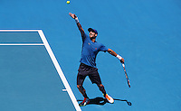 USA v Spain  Men's Singles <br /> USA's Jack Sock  beat Feliciano Lopez from Spain    in 39 degree heat      at the Hopman Cup Tennis Tournament  played  in Perth Arena Western Australia  on  Tuesday  January 3rd  2017