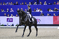 OMAHA, NEBRASKA - APR 1: Maria Florencia Manfredi rides Bandurria Kacero during the FEI World Cup Dressage Final II at the CenturyLink Center on April 1, 2017 in Omaha, Nebraska. (Photo by Taylor Pence/Eclipse Sportswire/Getty Images)