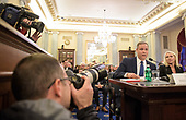 United States Representative James Bridenstine (Republican of Oklahoma), nominee for Administrator of the National Aeronautics and Space Administration (NASA), testifies at his confirmation hearing before the US Senate Committee on Commerce, Science, and Transportation on Wednesday, Nov. 1, 2017 in in Washington, DC.  <br /> Mandatory Credit: Joel Kowsky / NASA via CNP
