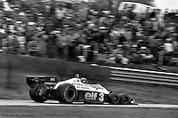 BOWMANVILLE, ONT: Ronnie Peterson drives the Tyrrell P34 6/Ford Cosworth DFV during the 1977 Canadian Grand Prix on October 9, 1977, at Mosport Park near Bowmanville, Ontario.