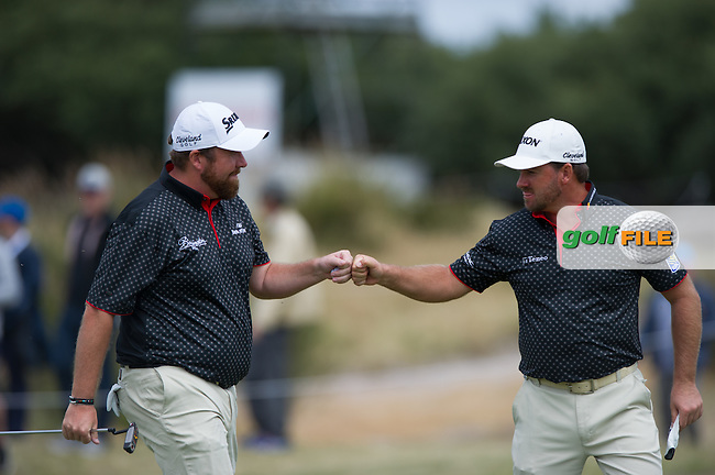 Shane Lowry (IRL), Graeme McDowell (NIR) during round 3 at the ISPS Handa World Cup of Golf, from Kingston heath Golf Club, Melbourne Australia. 26/11/2016<br /> Picture: Golffile | Anthony Powter<br /> <br /> <br /> All photo usage must carry mandatory copyright credit (&copy; Golffile | Anthony Powter)