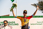 Phil Bauhaus (GER) Bahrain-Mclaren wins Stage 3 of the Saudi Tour 2020 running 119km from King Saud University to Al Bujairi, Saudi Arabia. 6th February 2020. <br /> Picture: ASO/Kåre Dehlie Thorstad | Cyclefile<br /> All photos usage must carry mandatory copyright credit (© Cyclefile | ASO/Kåre Dehlie Thorstad)