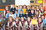 ATTENTIVE: Starting their first day at school in Mrs Kearney's class at Scoil Mhuire, Castleisland, on Monday were, front row l-r: Danute  Voveryte, Kelsey Horan, Ann Maire Callaghan, Alison Ward, Laura Foran and Gabrielle Voveryte. Middle row l-r: Dane Hewitt, Rita Houlader, John Ahern, John Paul O'Brien, Ronnie Mallon, David Scollard, Leah O'Connell, Paul O'Mahoney. Back row l-r: Tatiana Pitonokova, Kenneth O'Connor, Declan McCarthy, Darragh Griffin, Megan McKenna, Colm Roche, Sandra Knwowska, Ciara McCarthy and Wiki Niewiadomska.