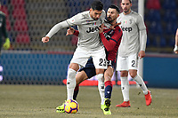 Emre Can of Juventus and Roberto Soriano of Bologna compete for the ball during the Italy Cup 2018/2019 football match between Bologna and Juventus at stadio Renato Dall'Ara, Bologna, January 12, 2019 <br />  Foto Andrea Staccioli / Insidefoto