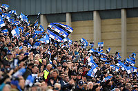 A general view of Bath Rugby supporters celebrating a try. Aviva Premiership match, between Bath Rugby and Gloucester Rugby on October 29, 2017 at the Recreation Ground in Bath, England. Photo by: Patrick Khachfe / Onside Images