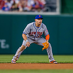 28 April 2017: New York Mets infielder Asdrubal Cabrera in action against the Washington Nationals at Nationals Park in Washington, DC. The Mets defeated the Nationals 7-5 to take the first game of their 3-game weekend series. Mandatory Credit: Ed Wolfstein Photo *** RAW (NEF) Image File Available ***