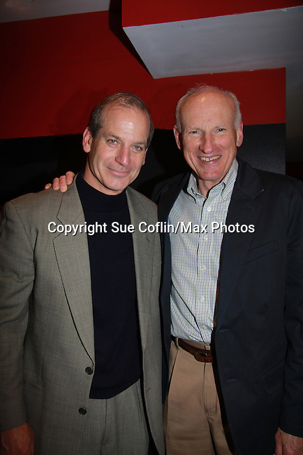 "Guiding Light and Another World's John Bolger ""Philip Spaulding"" stars along with 12 other actors - Guiding Light James Rebhorn, ATWT Gregg Edelman in Twelve Angry Men on opening night, March 16, 2012 at the George Street Playhouse, New Brunswick, NJ.  (Photo by Sue Coflin/Max Photos)"