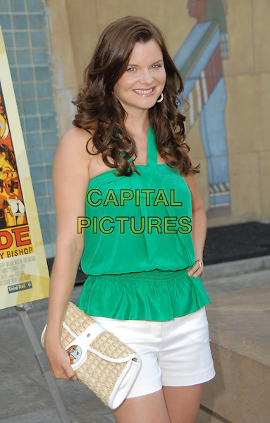 "HEATHER TOM .""Hell Ride"" Special Screening presented by the Weinstein Company held at The Egyptian Theater, Hollywood, California, USA, 31 July 2008..half length green top white shirts clutch bag .CAP/ADM/FS.©Faye Sadou/Admedia/Capital Pictures"