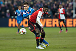 Nederland, Rotterdam, 27 januari  2013.Eredivisie.Seizoen 2012/2013.Feyenoord-FC Twente.Dusan Tadic van FC Twente in duel om de bal met Bruno Martins Indi van Feyenoord