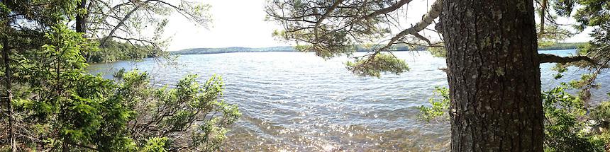 Walker Pond Panorama, Sedgwick, Maine, US