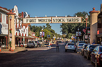 """The Fort Worth Stockyards celebrate Fort Worth's long tradition as a part of the cattle industry and they were listed on the National Register as a historical district in 1976. The Stockyards consist of mainly entertainment and shopping venues that capitalize on the """"Cowtown"""" image of Fort Worth. Home to the famous boot making company M.L. Leddy's which is located in the heart of the Stockyards.  The Fort Worth Stockyards are the last standing stockyards in the United States. Some volunteers still run the cattle drives through the stockyards."""