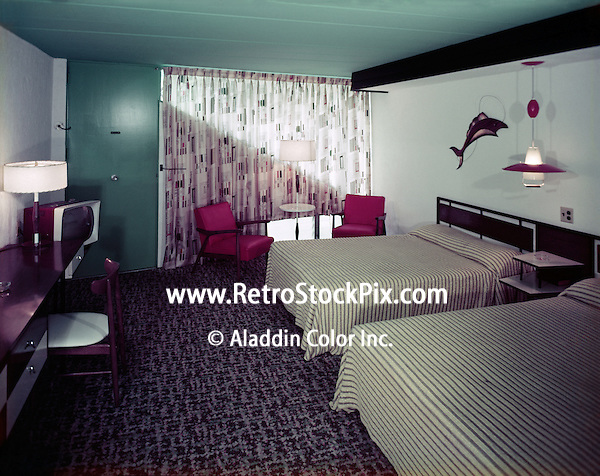 Satellite Motel, Wildwood, NJ - 1960's Motel Room