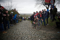 Jempy Drucker (LUX/BMC) on top of the Paterberg<br /> <br /> 70th Dwars Door Vlaanderen 2015
