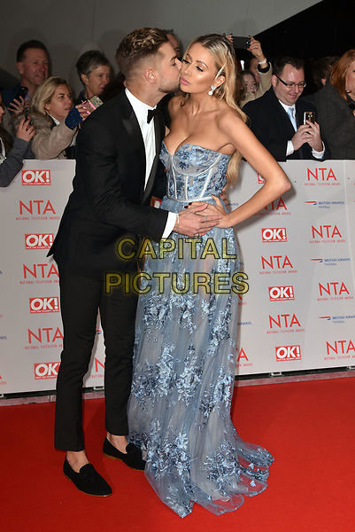 Chris Hughes and Olivia Attwood attending the National Television Awards 2018 at The O2 Arena on January 23, 2018 in London, England. <br /> CAP/Phil Loftus<br /> &copy;Phil Loftus/Capital Pictures