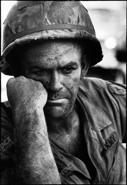 US soldier, Battle of Dak To, Hill 875, South Vietnam, November 1967