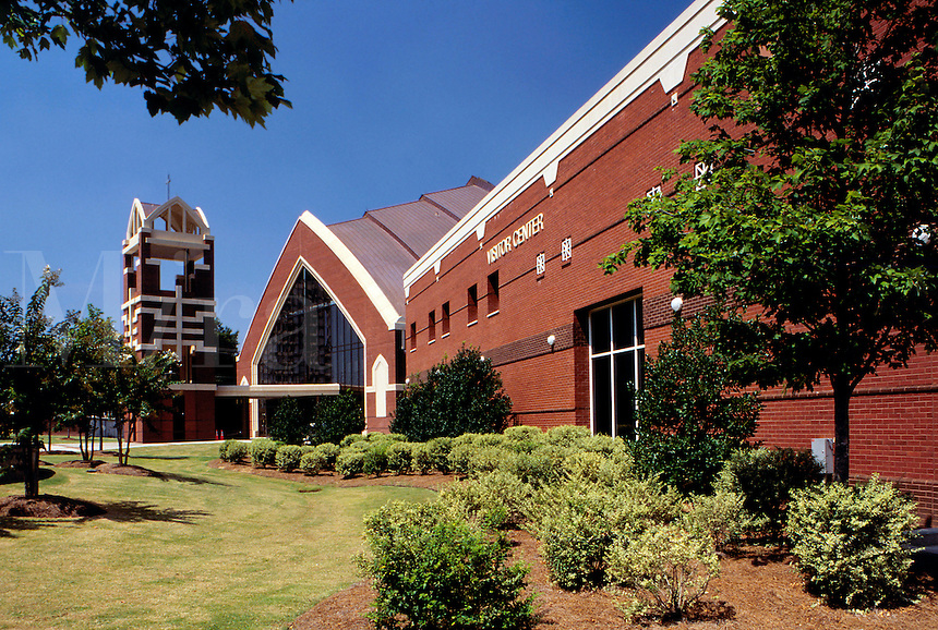The new (1999) Ebenezer Baptist Church near the Visitor Center at the Martin Luther King Center, Atlanta, Georgia