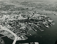 1963 October 13..Conservation.Downtown West (A-1-3)..Looking East at downtown.from above Atlantic City.Freemason Harbor..VU Photos.NEG#.NRHA#..