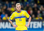 Solna 2015-10-12 Fotboll EM-kval , Sverige - Moldavien :  <br /> Sveriges John Guidetti under matchen mellan Sverige och Moldavien <br /> (Photo: Kenta J&ouml;nsson) Keywords:  Sweden Sverige Solna Stockholm Friends Arena EM Kval EM-kval UEFA Euro European 2016 Qualifying Group Grupp G Moldavien Moldova portr&auml;tt portrait