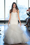 "Model Tess walks runway in a ""Dolly"" bridal gown from the Rivini Spring Summer 2017 bridal collection by Rita Vinieris at The Standard Highline Room, during New York Bridal Fashion Week on April 15, 2016."