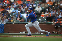 SAN FRANCISCO, CA - AUGUST 9:  Ben Zobrist #18 of the Chicago Cubs bats against the San Francisco Giants during the game at AT&T Park on Wednesday, August 9, 2017 in San Francisco, California. (Photo by Brad Mangin)