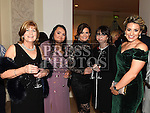 Letty Murtagh, Lauren Coscoran, Karen Martin, Julie-Anne McIntyre and Ciara Bannon from McGoey's Pharmacy who won the Bend Over Backwards Customer Service Award at the Baile Atha Fherdia Traders Awards in the Nuremore hotel Carrickmacross. Photo:Colin Bell/pressphotos.ie