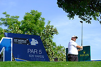 Shane Lowry (IRL) on the 14th tee during the 1st round of the DP World Tour Championship, Jumeirah Golf Estates, Dubai, United Arab Emirates. 15/11/2018<br /> Picture: Golffile | Fran Caffrey<br /> <br /> <br /> All photo usage must carry mandatory copyright credit (&copy; Golffile | Fran Caffrey)