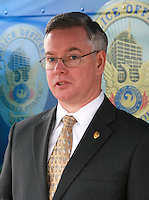 Bill Montgomery Maricopa County Attorney Speaking at the fourth annual Stop Random Gunfire Press Conference in Phoenix, AZ, on this Wednesday, December 29, 2010. .Photo by AJ Alexander/AJAimages