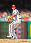 15 May 2016: Washington Nationals pitcher Blake Treinen on the mound against the Miami Marlins at Nationals Park in Washington, DC. The Marlins defeated the Nationals 5-1 in the final game of their 4-game series.  Mandatory Credit: Ed Wolfstein Photo *** RAW (NEF) Image File Available ***