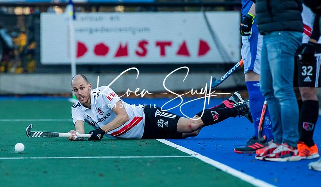 UTRECHT - Justin Reid-Ross (Adam) tijdens de hoofdklasse hockeywedstrijd mannen, Kampong-Amsterdam (4-3).  COPYRIGHT KOEN SUYK