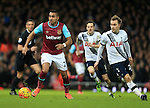 West Ham's Dimitri Payet tussles with Tottenham's Christian Eriksen<br /> <br /> - English Premier League - West Ham Utd vs Tottenham  Hotspur - Upton Park Stadium - London - England - 2nd March 2016 - Pic David Klein/Sportimage