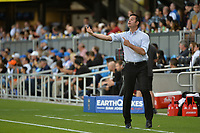 San Jose, CA - Saturday June 24, 2017: Mike Petke during a Major League Soccer (MLS) match between the San Jose Earthquakes and Real Salt Lake at Avaya Stadium.