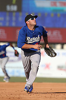 Steven Proscia #19 of the Rancho Cucamonga Quakes during a game against the Inland Empire 66ers at San Manuel Stadium on August 10, 2014 in San Bernardino, California. Inland Empire defeated Rancho Cucamonga, 4-1. (Larry Goren/Four Seam Images)