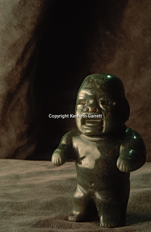 Olmec, Ancient Cultures; The Americas; jade; Ceremony; National Museum of Anthropology and History; Mexico City; Mexico; Boca Baby