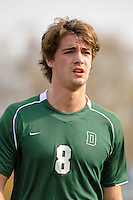 Gabe Hoffman-Johnson (8) of the Dartmouth Big Green. Dartmouth defeated Monmouth 4-0 during the first round of the 2010 NCAA Division 1 Men's Soccer Championship on the Great Lawn of Monmouth University in West Long Branch, NJ, on November 18, 2010.