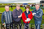 Tom Murphy,Tom Cotter Margaret Murphy and John Murphy all from Ballyheigue enjoying the The North Kerry Harriers Point to Point in Ballybeggan Racecourse on Saturday