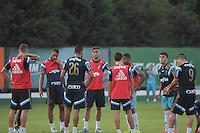 SÃO PAULO,SP, 07.10.2015 - FUTEBOL-PALMEIRAS - Os jogadores do Palmeiros durante treino na Academia de Futebol, na Barra Funda região oeste de São Paulo na tarde desta quarta-feira (07). (Foto : Marcio Ribeiro / Brazil Photo Press)