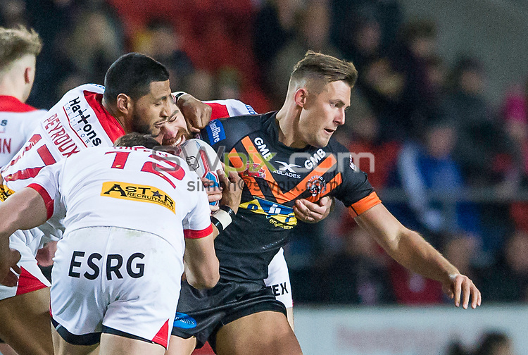 Picture by Allan McKenzie/SWpix.com - 02/02/2018 - Rugby League - Betfred Super League - St Helens v Castleford Tigers - The Totally Wicked Stadium, Langtree Park, St Helens, England - Greg Eden.