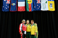 Singles presentations /Female Class 6-10<br /> 2013 ITTF PTT Oceania Regional<br /> Para Table Tennis Championships<br /> AIS Arena Canberra ACT AUS<br /> Wednesday November 13th 2013<br /> © Sport the library / Jeff Crow
