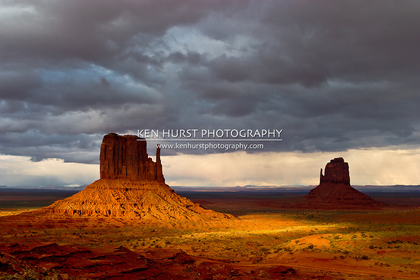 The mittens formation in Monument Valley, Utah.