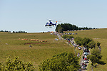 The peloton climbing during Stage 15 of the 104th edition of the Tour de France 2017, running 189.5km from Laissac-Severac l'Eglise to Le Puy-en-Velay, France. 16th July 2017.<br /> Picture: ASO/Pauline Ballet   Cyclefile<br /> <br /> <br /> All photos usage must carry mandatory copyright credit (&copy; Cyclefile   ASO/Pauline Ballet)