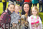 Having Fun at the Dog Show at Feile na mBlath in Tralee Town Park on Saturday were from left: Sarah O'Sullivan, Dylan Shannahan Samantha Houlihan Alanah Houlihan pictured with their Yorkshire Terrier Beauty.