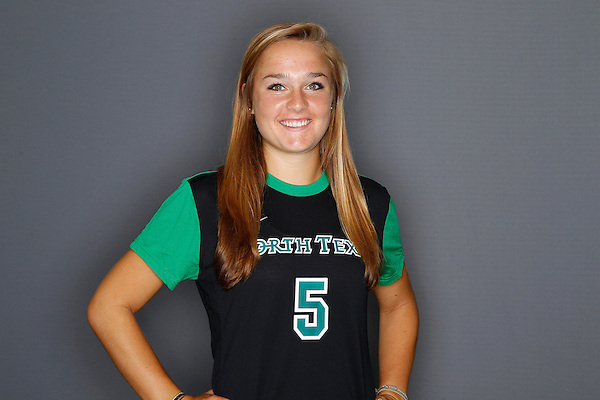 Denton, TX - AUGUST 3: University of North Texas women' soccer team head shot Jackie Moreau at University of North Texas Athletic Center Complex in Denton on August 3, 2012 in Denton, Texas. (Photo by Rick Yeatts)
