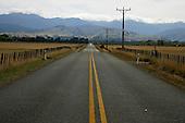 Long straight road leading towards the Tauarua Ranges near Masterton.