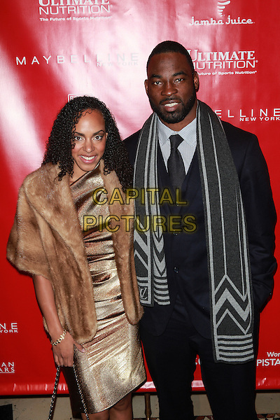 New York, NY- January 31: Lauran Williamson Tuck and Justin Tuck at Shape &amp; Men's Fitness Kickoff Party at Cipriani 42nd Street on January 31, 2014 in New York City.  <br /> CAP/MPI/COR<br /> &copy;Corredor99/ MediaPunch/Capital Pictures