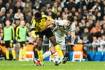 Borussia Dortmund Ousmane Cembele, Real Madrid's James Rodriguez during Champions League match between Real Madrid and Borussia Dortmund  at Santiago Bernabeu Stadium in Madrid , Spain. December 07, 2016. (ALTERPHOTOS/Rodrigo Jimenez)