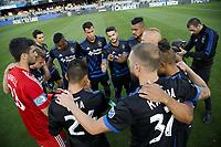 San Jose, CA - Saturday July 28, 2018: San Jose Earthquakes  during a Major League Soccer (MLS) match between the San Jose Earthquakes and Real Salt Lake at Avaya Stadium.