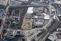 Fachmarktcenter: EUROPA, DEUTSCHLAND, HAMBURG, (EUROPE, GERMANY), 10.03.2007: Bergedorf, Strasse, Weidenbaumsweg, Stuhlrohrstrasse, Sander Damm, Vierlandenstrasse, Neubau, Baustelle, Post, Moschee, Luftbild, Luftansicht, Air..c o p y r i g h t : A U F W I N D - L U F T B I L D E R . de.G e r t r u d - B a e u m e r - S t i e g 1 0 2, .2 1 0 3 5 H a m b u r g , G e r m a n y.P h o n e + 4 9 (0) 1 7 1 - 6 8 6 6 0 6 9 .E m a i l H w e i 1 @ a o l . c o m.w w w . a u f w i n d - l u f t b i l d e r . d e.K o n t o : P o s t b a n k H a m b u r g .B l z : 2 0 0 1 0 0 2 0 .K o n t o : 5 8 3 6 5 7 2 0 9.C o p y r i g h t n u r f u e r j o u r n a l i s t i s c h Z w e c k e, keine P e r s o e n l i c h ke i t s r e c h t e v o r h a n d e n, V e r o e f f e n t l i c h u n g  n u r  m i t  H o n o r a r  n a c h M F M, N a m e n s n e n n u n g  u n d B e l e g e x e m p l a r !.